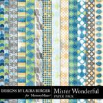 Mister Wonderful Grunge Paper Pack-$1.75 (Laura Burger)