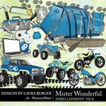 Mister Wonderful Big Boy Embellishments-$3.49 (Laura Burger)