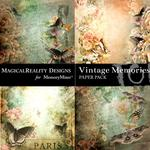 Vintage Memories Green Butterfly Paper-$3.99 (MagicalReality Designs)