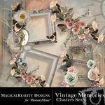 Vintage Memories Clusters 3-$2.49 (MagicalReality Designs)