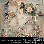 Vintage Memories Clusters 2-$2.49 (MagicalReality Designs)