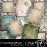 Vintage Memories Paper Pack-$3.99 (MagicalReality Designs)