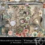 Vintage Memories Embellishment Pack-$1.75 (MagicalReality Designs)