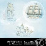 Sea and Sky Accents Pack-$1.99 (Indigo Designs)