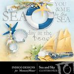Sea and Sky Clusters Pack-$1.99 (Indigo Designs)
