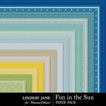 Fun in the Sun Embossed Paper Pack-$1.99 (Lindsay Jane)