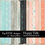 Happy Talk Basics Paper Pack-$3.99 (Fayette Designs)