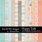 Happy Talk Patterned Paper Pack-$2.99 (Fayette Designs)