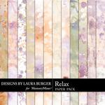 Relax Painted Paper Pack-$1.75 (Laura Burger)