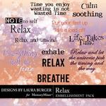 Relax Words Pack-$1.25 (Laura Burger)