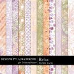 Relax Patterned Paper Pack-$3.49 (Laura Burger)