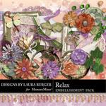 Relax Embellishment Pack-$3.49 (Laura Burger)