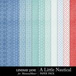 A Little Nautical Pattern Paper Pack-$1.99 (Lindsay Jane)