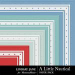 A Little Nautical Embossed Paper Pack-$1.99 (Lindsay Jane)