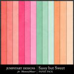 Sassy But Sweet Solid Paper Pack-$3.49 (Jumpstart Designs)