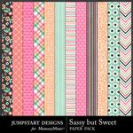 Sassy But Sweet Patterned Paper Pack-$3.49 (Jumpstart Designs)