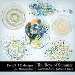 The Boys of Summer Background Fancies-$1.50 (Fayette Designs)
