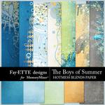 The Boys of Summer Hotmess Blended Paper-$2.99 (Fayette Designs)