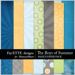 The Boys of Summer Basics Paper Pack-$3.99 (Fayette Designs)