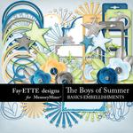 The Boys of Summer Basics Embellishments-$3.49 (Fayette Designs)