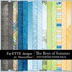 The Boys of Summer Patterned Paper-$2.99 (Fayette Designs)
