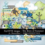 The Boys of Summer Embellishment Pack-$3.49 (Fayette Designs)