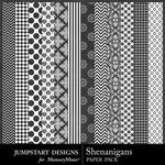 Shenanigans Black and White Paper Pack-$2.99 (Jumpstart Designs)