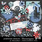 Shenanigans Fun Flair Embellishment Pack-$2.49 (Jumpstart Designs)