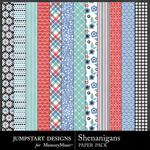Shenanigans Patterned Paper Pack-$2.99 (Jumpstart Designs)