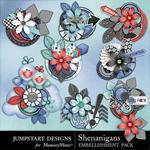 Shenanigans Bloom Stacks Cluster Pack-$1.75 (Jumpstart Designs)