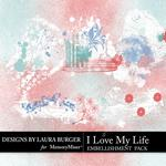 I Love My Life Gesso Cluster Pack-$1.75 (Laura Burger)