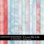 I Love My Life Grunge Paper Pack-$2.45 (Laura Burger)