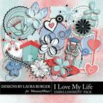 I Love My Life Add On Embellishment Pack-$2.49 (Laura Burger)