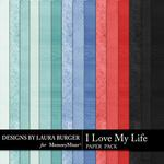 I Love My Life Solid Paper Pack-$3.49 (Laura Burger)