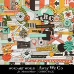Away We Go Combo Pack-$4.99 (Word Art World)