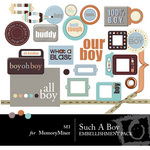 Such A Boy Embellishment Pack-$3.50 (s.e.i)