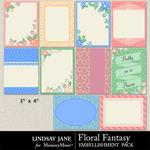 Floral Fantasy Journal Cards-$1.40 (Lindsay Jane)