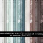 Memories of Yesterday Solid Paper Pack-$3.49 (Laura Burger)