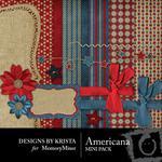 Americana Mini Pack-$3.49 (Designs by Krista)