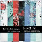 Free 2 Be Hotmess Solid Paper Pack-$2.10 (Fayette Designs)
