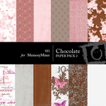 Chocolate Paper Pack 2-$4.00 (s.e.i)