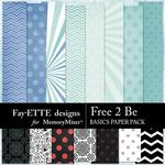 Free 2 Be Basics Paper Pack-$3.99 (Fayette Designs)