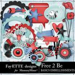 Free 2 Be Basics Embellishment Pack-$3.99 (Fayette Designs)