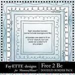 Free 2 Be Doodles Borders Pack-$1.99 (Fayette Designs)