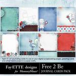 Free 2 Be Journal Cards Pack-$1.99 (Fayette Designs)