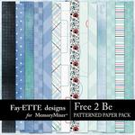 Free 2 Be Patterned Paper Pack-$2.10 (Fayette Designs)