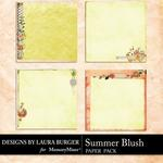 Summer Blush Stacked Papers-$3.49 (Laura Burger)