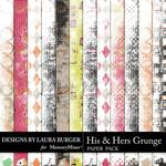 His And Hers Grunge Paper Pack-$1.75 (Laura Burger)