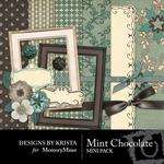Mint Chocolate Mini Pack-$2.45 (Designs by Krista)