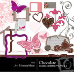 Chocolate Embellishment Pack 2-$3.50 (s.e.i)